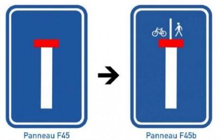 Adaptation de la signalisation F45