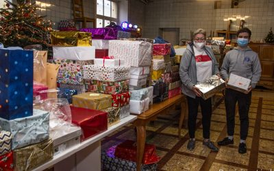 Noël de SolidaritéS-Virton : distribution de boîtes-surprises et de repas